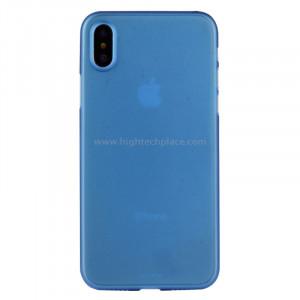 Pour iPhone X PP Housse de protection arrière (Bleu) SP452L2-20