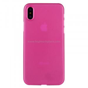 Pour iPhone X PP Housse de protection arrière (magenta) SP452M8-20