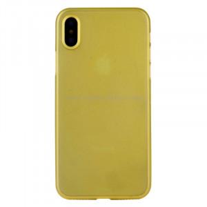 Pour iPhone X PP Housse de protection arrière (jaune) SP452Y2-20