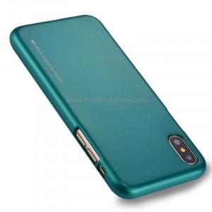 GOOSPERY MERCURY i JELLY pour iPhone X Métal et peinture à l'huile Soft TPU Housse de protection arrière (verte) SG864G4-20
