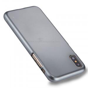 GOOSPERY MERCURY i JELLY pour iPhone X Métal et peinture à l'huile Soft TPU Housse de protection arrière (gris) SG864H7-20