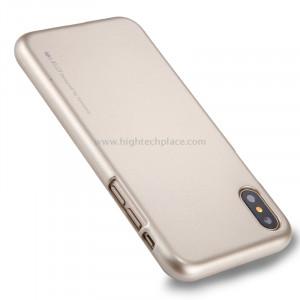 GOOSPERY MERCURY i JELLY pour iPhone X Métal et peinture à l'huile Soft TPU Housse de protection arrière (Gold) SG864J2-20