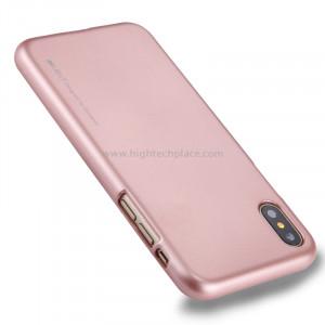 GOOSPERY MERCURY i JELLY pour iPhone X Métal et peinture à l'huile Soft TPU Housse de protection arrière (Rose Gold) SG64RG1-20