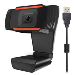A870 12,0 méga pixels HD 360 degrés WebCam USB 2.0 PC Caméra avec microphone pour ordinateur portable PC Skype, longueur de câble: 1,4 m (orange) SH452E1239-20