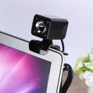 A862 caméra de fil USB rotative 12MP HD WebCam 360 degrés avec microphone et 4 lumières LED pour ordinateur de bureau Ordinateur portable PC Skype, longueur de câble: 1,4 m SH455B354-20