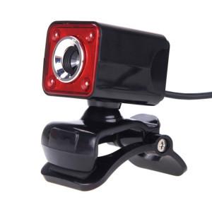 A862 caméra de fil USB rotative 12MP HD WebCam 360 degrés avec microphone et 4 lumières LED pour ordinateur de bureau Ordinateur portable PC Skype, longueur de câble: 1,4 m SH55BR1158-20
