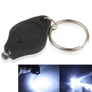 Mini lampe de poche LED, lumière blanche, fonction porte-clés, interrupteur marche / arrêt et pressostat (noir) SH025B1595-20