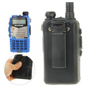 Housse en silicone Pure Color pour talkies-walkies série UV-5R (Noir) SH696B419-20