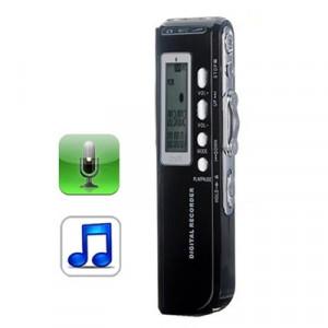 Enregistreur vocal numérique 8 Go Dictaphone Lecteur MP3, Enregistrement téléphonique, Fonction VOX, Alimentation: 2 piles AAA (Noir) SH10321922-20
