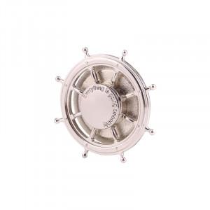 Rudder Wheel Shape Fidget Spinner Toy Stress Reducer Anti-Anxiety Toy pour enfants et adultes, environ 0,5 minutes Temps de rotation, perles en acier inoxydable Bearing + Aluminium Alloy Material (Silver) SR356S-20