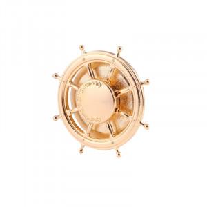 Rudder Wheel Shape Fidget Spinner Réducteur de stress pour jouets Jouets anti-angoisse pour enfants et adultes, environ 0,5 minutes Temps de rotation, perles en acier inoxydable Roulement + Matériau en alliage SR356J-20