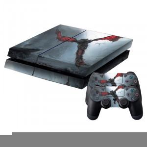 Peau de protection en peau de protection de patte de tatouage autocollant pour console de jeux PS4 SP785D-20