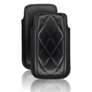 Etui Forcell Slim Losanges Apple iPhone 3 / 3GS / 4 / 4S / Nokia N97 / Samsung i900 OMNIA Noir EFSL-N-20