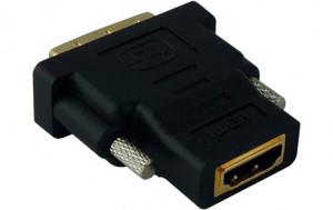 Adaptateur HDMI Femelle vers DVI-D 24 + 1 Mâle Connecteurs Plaqués or HDMMWY0003-20