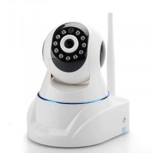 Camera de securite IP HD / Sans-fil / PT / Filtre IR / Detecteur de mouvement / Vision nocturne / Supporte les telephones mobiles CW2026-20