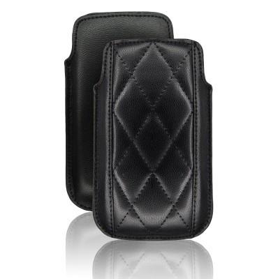 Etui Forcell Slim Losanges Apple iPhone 3 / 3GS / 4 / 4S / Nokia N97 / Samsung i900 OMNIA Noir EFSL-N-20