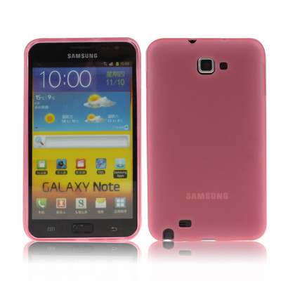 Coque pour Samsung Galaxy Note / i9220 / N7000 Style Matte Rose CSSGNSMR01-02