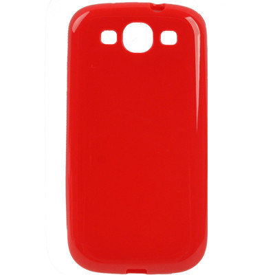 Coque en plastique flexible pour Samsung Galaxy SIII Rouge CPFSGS3R01-03
