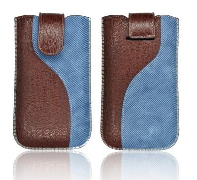"""Etui Forcell Slim en cuir KORA 2 """"S"""" pour HTC Desire HD Bleu 17011-31"""