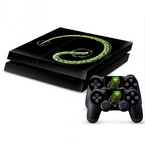 Autocollant en peau de peau en peau de protection en peau de protection en peau de peau verte 3D pour console de jeu PS4 SA340G-33