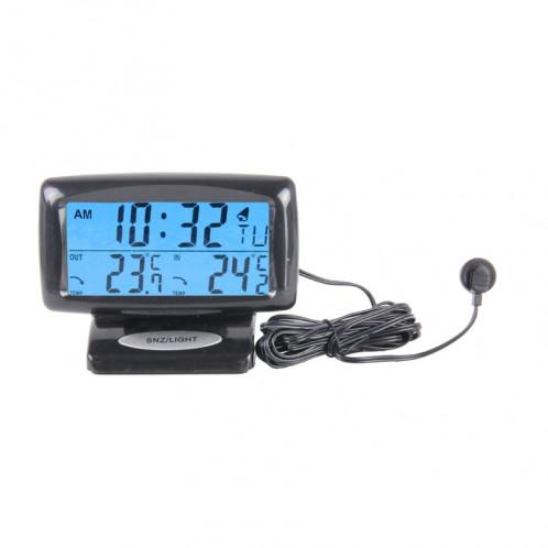 SH-350-2 Thermomètre à température numérique multifonction Réveil Écran LCD Écran LCD Détecteur de batterie SS2591-36