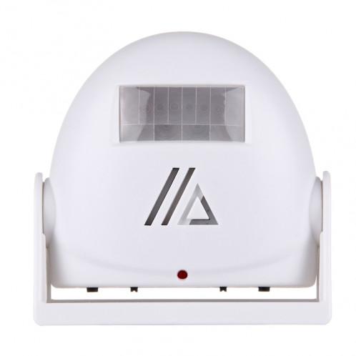 5301 Capteur de mouvement infrarouge sans fil Alarme de bienvenue Sonnerie vocale intelligente, IR Distance: 10m (Blanc) S5001W-37