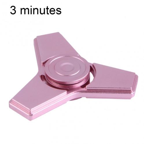 Fidget Spinner Toy Stress Reducer Anti-Anxiety Toy pour enfants et adultes, 3 minutes de temps de rotation, matériau en aluminium, trois feuilles SF4501-38