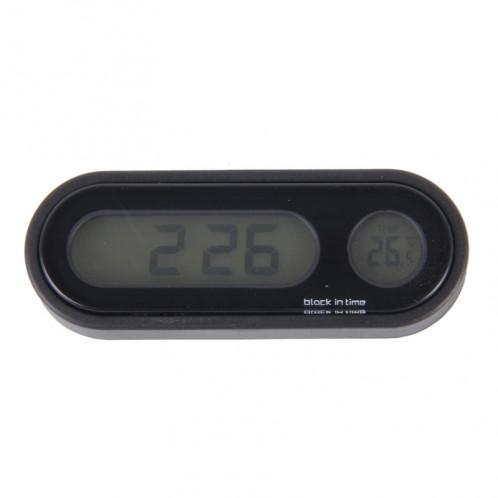 Thermomètre à température numérique multifonction Horloge Moniteur LCD Indicateur de détecteur de batterie Affichage ST2592-35