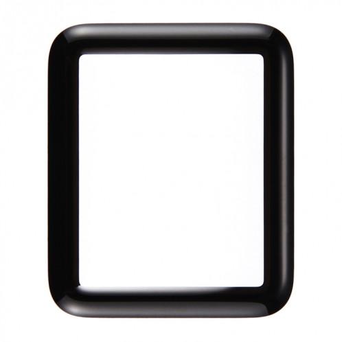 iPartsAcheter pour Apple Watch Série 1 42mm Front Screen Verre Extérieur (Noir) SI126B620-36