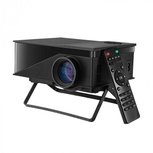 Mini projecteur vidéo PH400 1200 Lumens Projecteur vidéo multimédia SVGA 800x480 avec télécommande et support, distance de projection: 2-5m (noir) SH016B1880-39