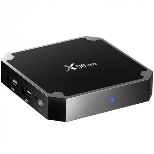 X96 mini 4K * 2K UHD sortie Smart TV BOX Player avec télécommande avec fixation murale, Android 7.1.2 Amlogic S905W Quad Core ARM Cortex A53 2GHz, RAM: 1 Go, ROM: 8 Go, Prise en charge WiFi, HDMI, TF (noir) SH973B1464-316