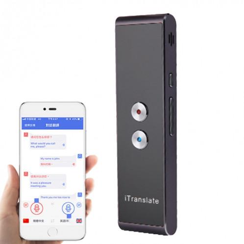 T8 poche Pocket Smart Traducteur de voix Traducteur de parole en temps réel avec Dual Mic, soutien 33 langues (Noir) SH087B720-311