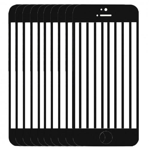 10 PCS iPartsAcheter pour l'écran avant de l'iPhone 5C verre extérieur (noir) S192BT728-37