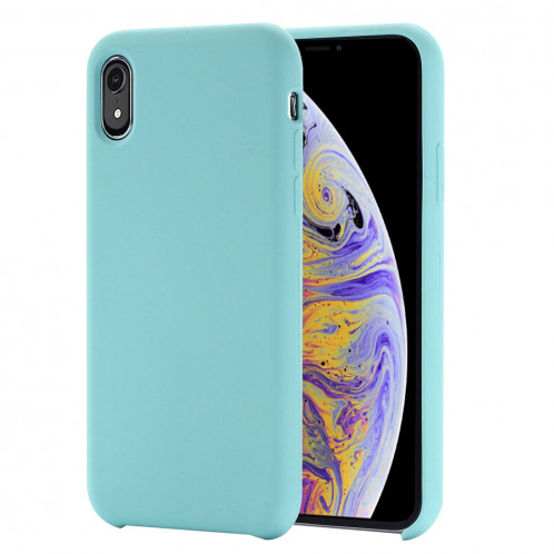 Étui de protection en silicone liquide à couverture intégrale à quatre coins pour iPhone XR 6,1 pouces (vert) SH098G167-37