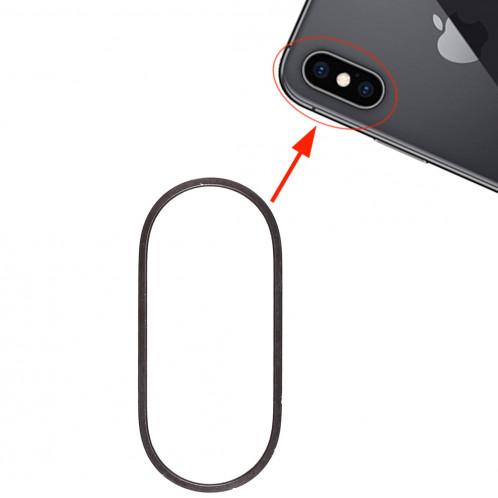 Anneau de protection en métal pour lentille en verre de caméra arrière pour iPhone XS et XS Max (Noir) SH312B920-34