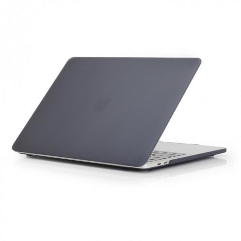 Étui de protection pour ordinateur portable de style givré pour MacBook Pro 15,4 pouces A1990 (2018) (Noir) SH317B19-34