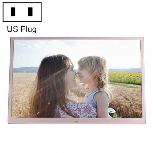 HSD1707 Cadre photo numérique haute résolution à affichage LED 1440X900 de 17 pouces avec support et télécommande, prise en charge des cartes SD / MMC / MS / port USB SH6520700-39
