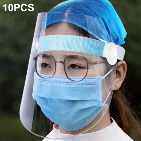10 PCS Clear Protective Face Shield Anti-Saliva Splash Anti-Spitting Anti-Fog Anti-Oil Mask with Elastic Band SHT4911186-314