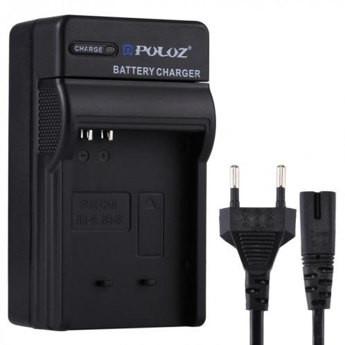 Chargeur de batterie PULUZ EU Plug avec câble pour batterie Canon NB-4L / NB-8L SP2223623-35