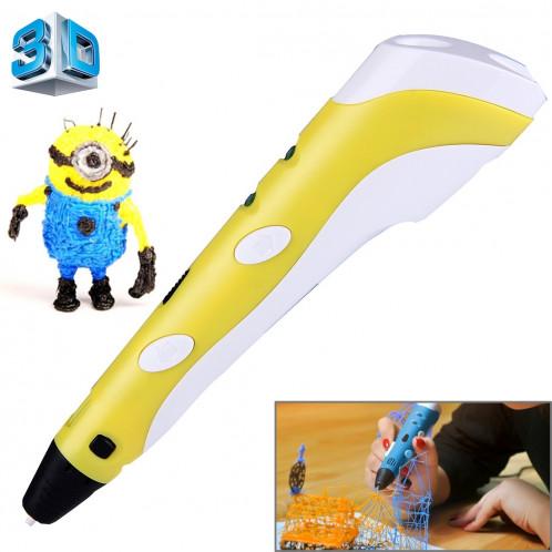 Stylo d'impression 3D à main, prise UE (jaune) SH034Y1596-313