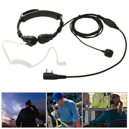 Oreillette Transceiver Écouteur Casque pour talkie-walkie, 3.5mm + 2.5mm Plug (Noir) SO695B1290-39