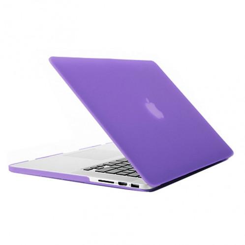 Étui de protection dur givré pour Macbook Pro Retina 15,4 pouces A1398 (violet) SH018P1681-37