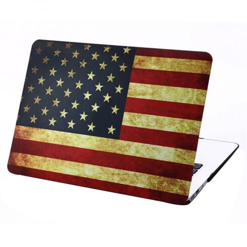 Rétro modèle de drapeau américain givré étui de protection en plastique dur pour Macbook Air 13,3 pouces SH021B303-37