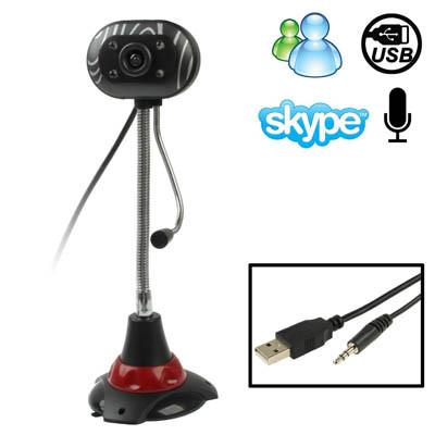 Caméra PC / Webcam sans pilote USB 2.0 de 5,0 mégapixels avec micro et 4 LED, longueur du câble: 1,2 m SH08081973-37