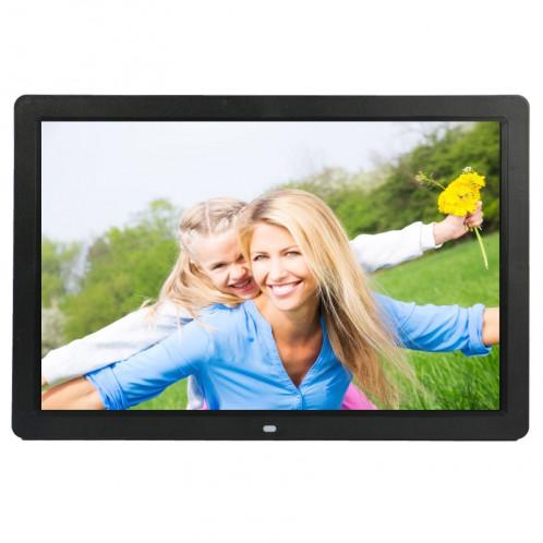 Cadre photo numérique multimédia à affichage LED HD 1080P de 17 pouces avec support et lecteur de musique et de film, prise en charge de la carte USB / SD / MS / MMC (noir) SH302B828-312