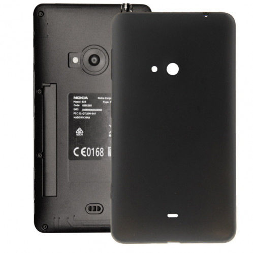 iPartsAcheter pour Nokia Lumia 625 couvercle de la batterie de logement d'origine avec bouton latéral (noir) SI108B1536-35