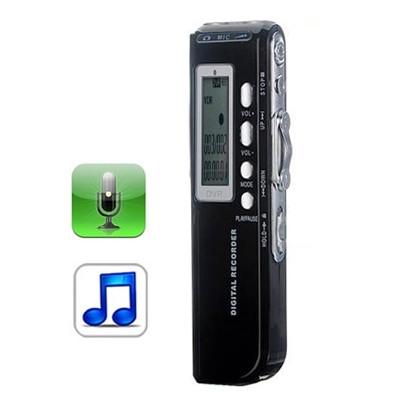 Enregistreur vocal numérique 8 Go Dictaphone Lecteur MP3, Enregistrement téléphonique, Fonction VOX, Alimentation: 2 piles AAA (Noir) SH10321922-38