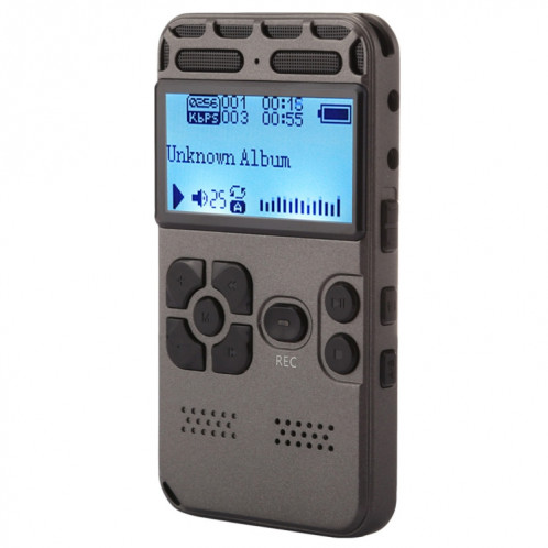 Enregistreur vocal audio portable VM181, 8 Go, lecture de musique de soutien / carte TF / LINE-IN et enregistrement téléphonique SH190740-39