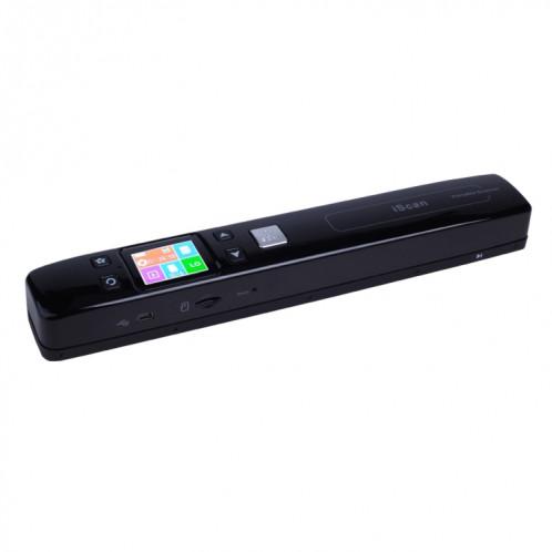 iScan02 Scanner portatif portable à double rouleau de document mobile avec l'affichage à LED, support 1050DPI / 600DPI / 300DPI / PDF / JPG / TF (noir) SI002B7-39