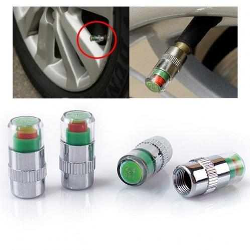 4 PCS 2.4 Bar Tuyau de détection de pression de pneu Cap S40270-37
